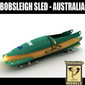 3d model of bobsleigh sled - australia