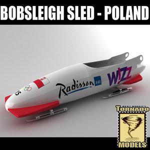 bobsleigh sled - poland 3d max