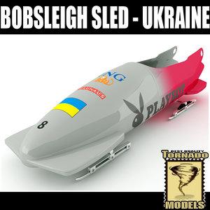 bobsleigh sled - ukraine 3d max