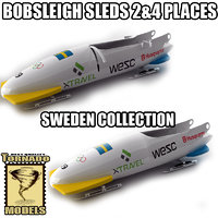 bobsleigh sled - sweden 3d max