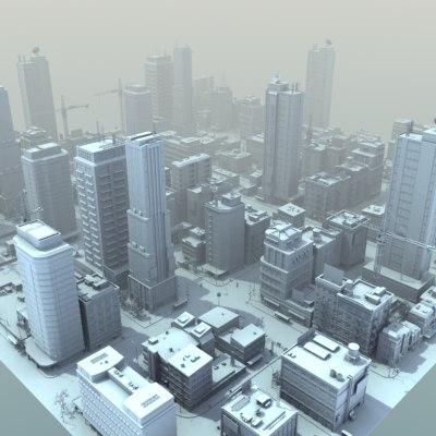 3d model city buildings hd