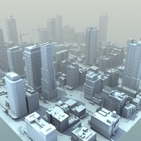 3d model city buildings hd