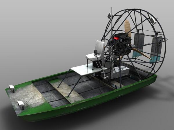 airboat boat 3d model