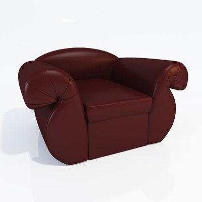 classic armchair 3d 3ds