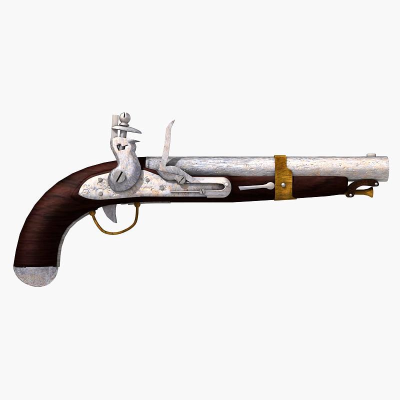 lightwave ancient flintlock pistol