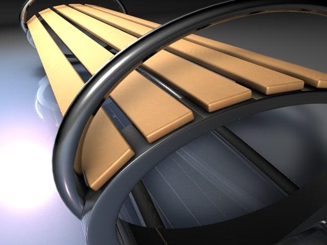 bench futuristic 3d model
