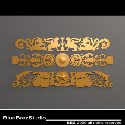 3ds gold decoration