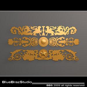 3ds gold decoration