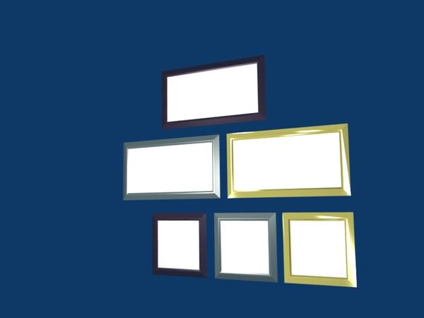 picture frames shape 3d 3ds