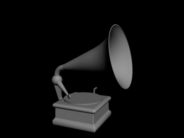 phonograph nicely 3d model