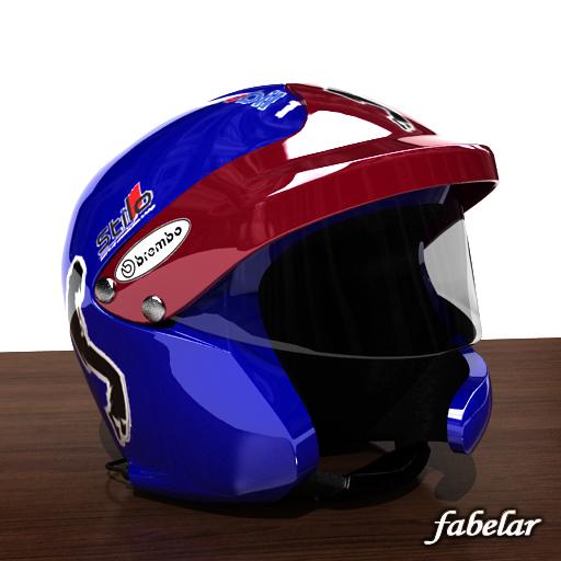 3d model photorealistic rally helmet