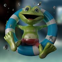 3d model of toony frog