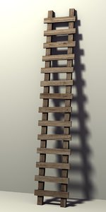wood ladder 3d model