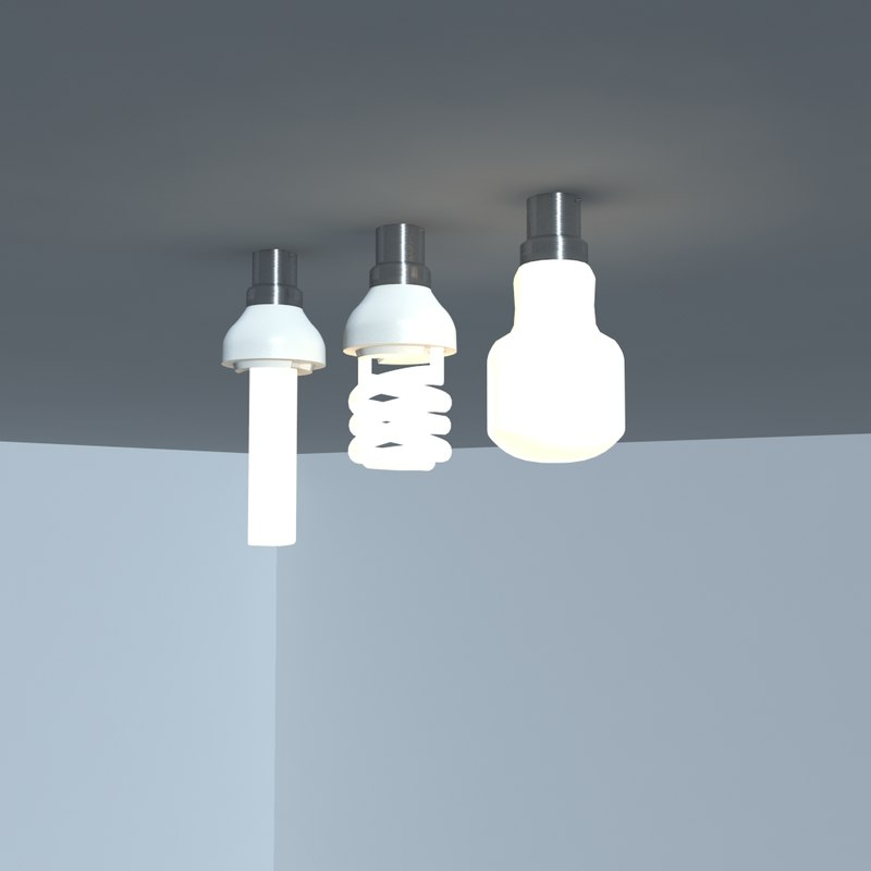 3d light bulbs model