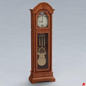 clock grandfather 3d max