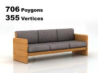 3d sofa rendering model