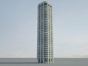 large office building 3d 3ds