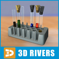 3d model laboratory flasks