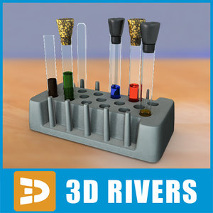 3d model laboratory flasks