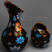 black vases 3d max