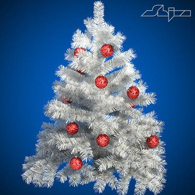3d christ tree white s model