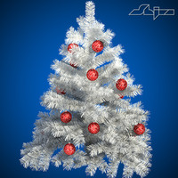 3d christ tree white s model