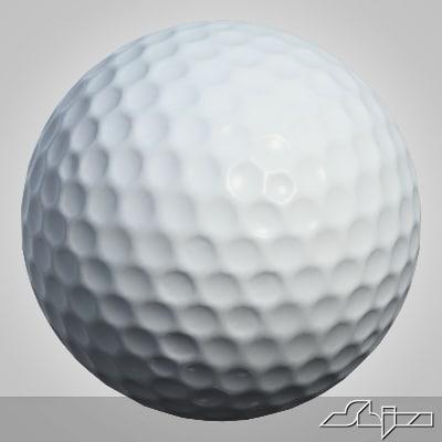 3ds max golfball golf ball