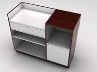 retail showcase counter cash register 3d max
