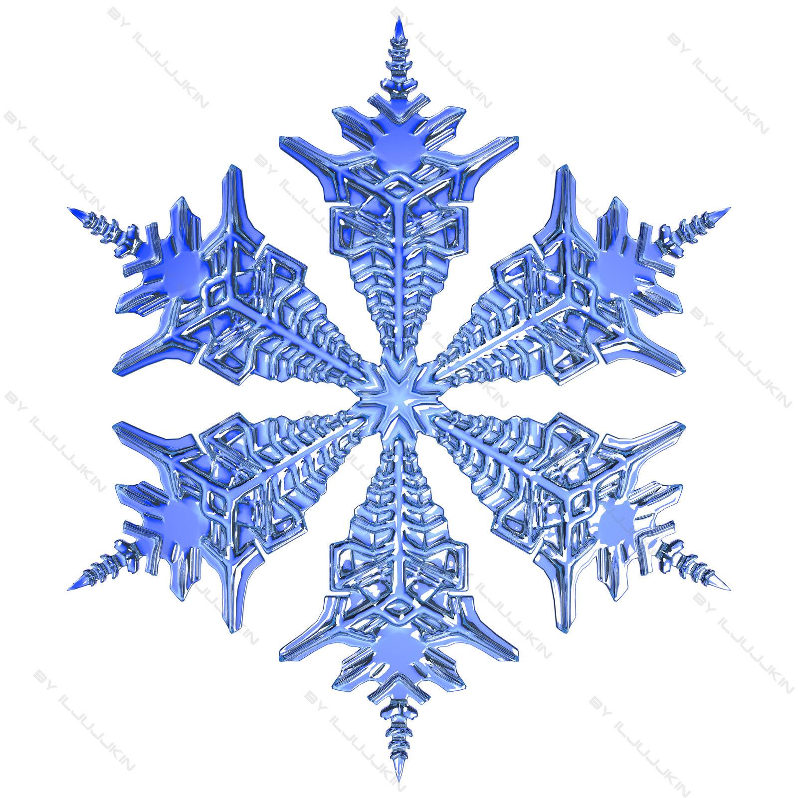 3d model snowflake snow