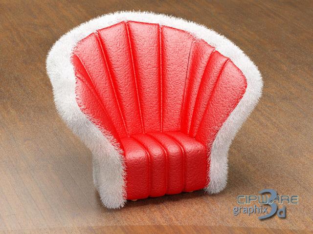 sofa christmas edition 3d max