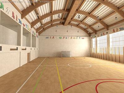 3d sports hall model
