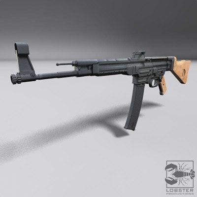3d wwii stg44 assault rifle