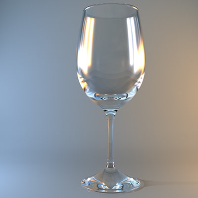 3d model white wine glass