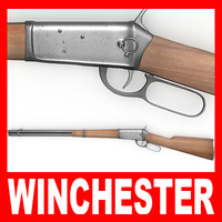 3d winchester rifle model