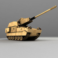 xm1203 non-line-of-sight cannon 3d model