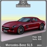 2010 mercedes sls 3d model