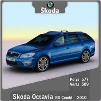 2010 skoda octavia rs 3d max