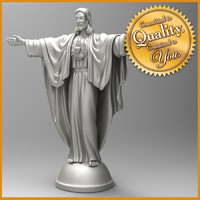 jesus statue 3d model