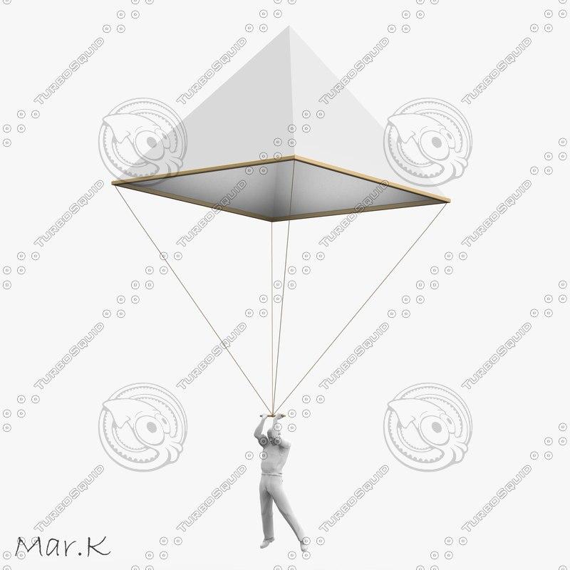 3dsmax parachute leonardo da