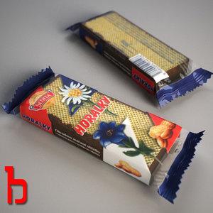3d model horalky biscuit