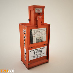 3d model studio newspaper vending machine