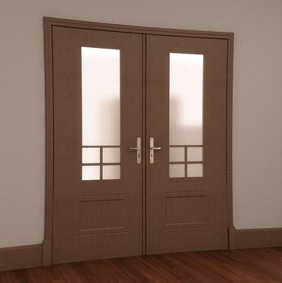 3ds max classic door wood