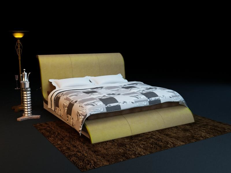 bed combination 3d max