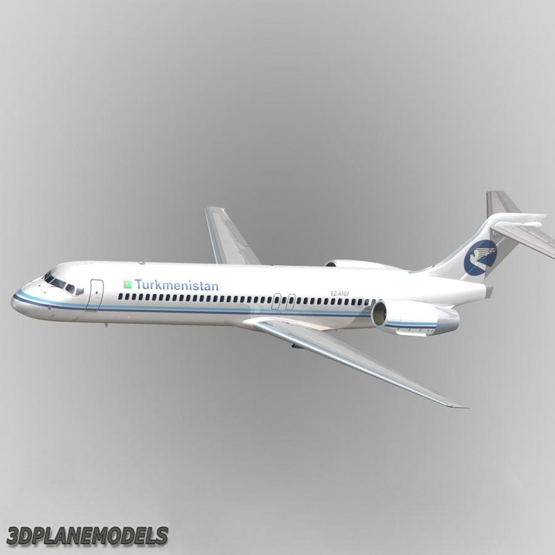 b717-200 airliner turkmenistan aviation 3d 3ds