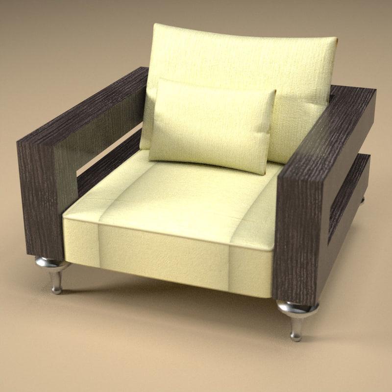armchair2 interior 3d model