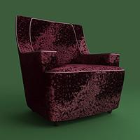 maya table armchair velour ag