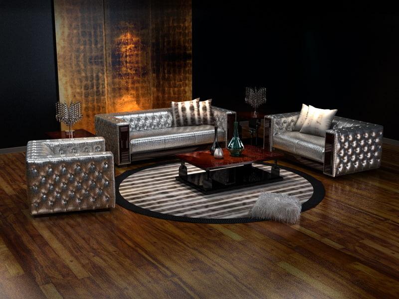 sofa combination 3d model