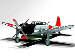 3ds max ww2 bomber nakajima b6n
