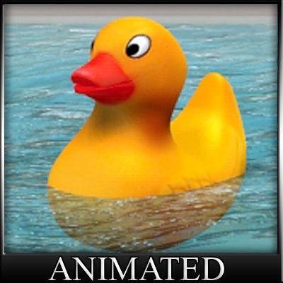 3d ducky badeente model