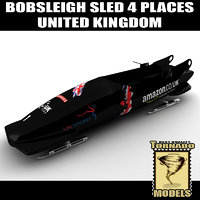 Bobsleigh Sled - 4 Places - UK